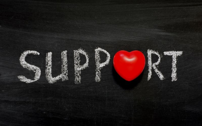 support photo